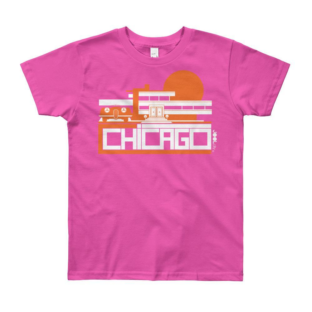 Chicago Mod Prairie Short Sleeve Youth T-shirt T-Shirt Fuchsia / 12yrs designed by JOOLcity