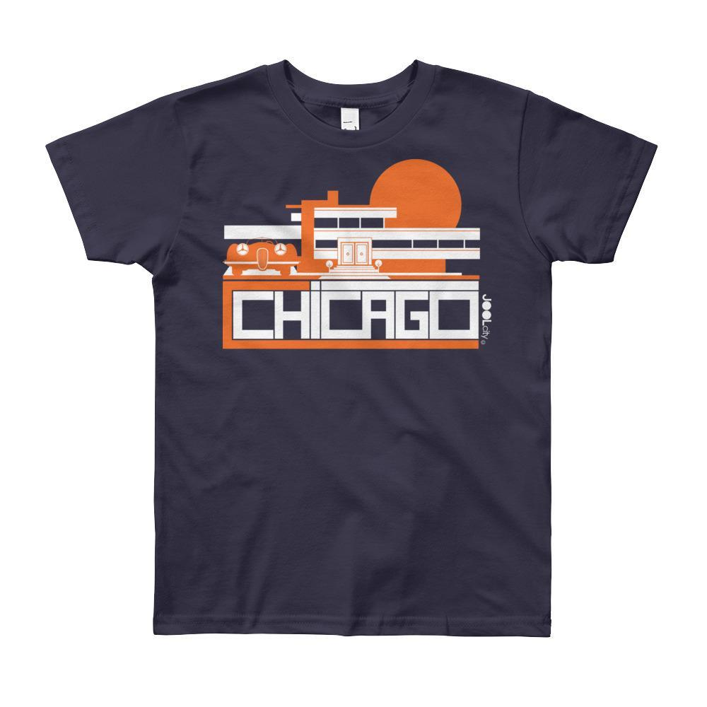 Chicago Mod Prairie Short Sleeve Youth T-shirt T-Shirt Navy / 12yrs designed by JOOLcity
