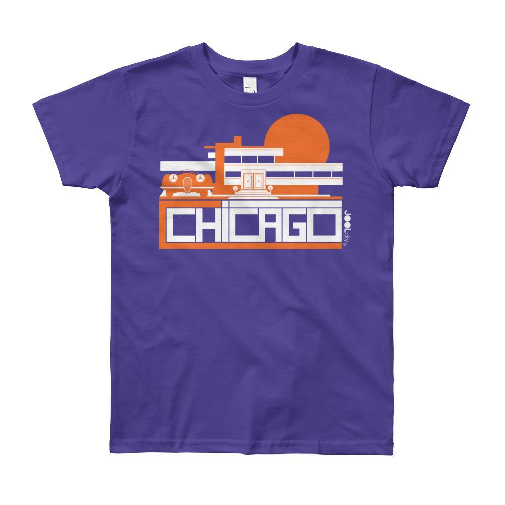 Chicago Mod Prairie Short Sleeve Youth T-shirt T-Shirt Purple / 12yrs designed by JOOLcity