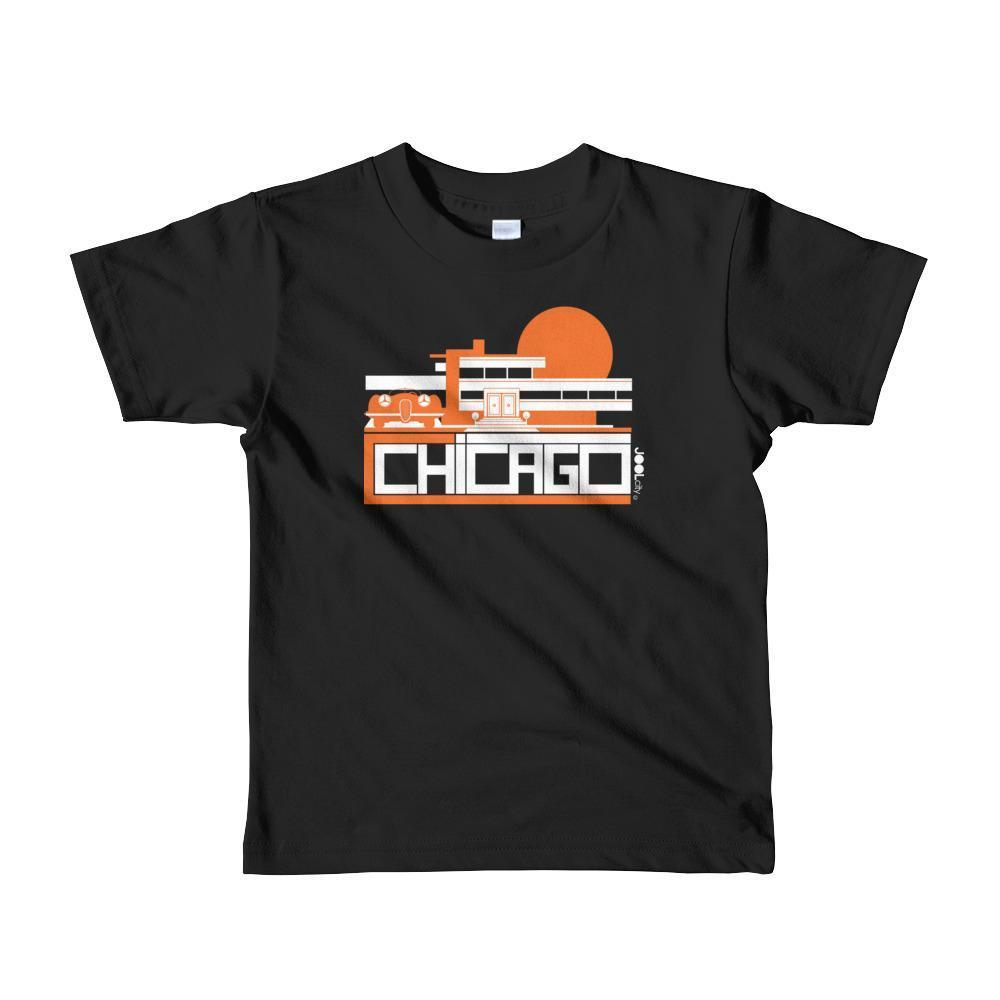 Chicago Mod Prairie Toddler Short Sleeve T-shirt T-Shirt Black / 6yrs designed by JOOLcity