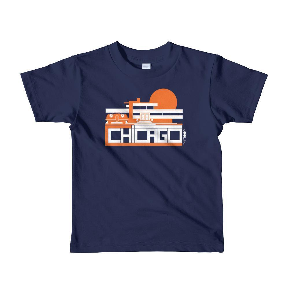Chicago Mod Prairie Toddler Short Sleeve T-shirt T-Shirt Navy / 6yrs designed by JOOLcity
