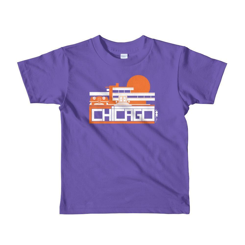 Chicago Mod Prairie Toddler Short Sleeve T-shirt T-Shirt Purple / 6yrs designed by JOOLcity