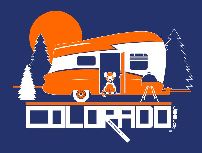 Colorado Camping Pupster Short-Sleeve Men's T-Shirt T-Shirt  designed by JOOLcity