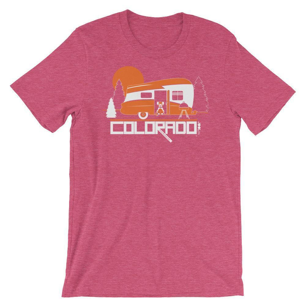 Colorado Camping Pupster Short-Sleeve Men's T-Shirt T-Shirt Heather Raspberry / 2XL designed by JOOLcity