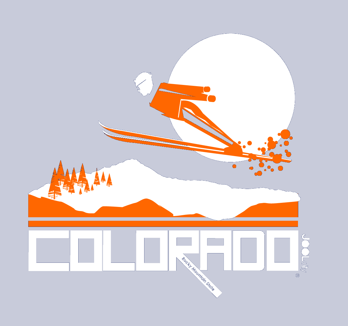 Colorado Flying High Short-Sleeve Men's T-Shirt T-Shirt  designed by JOOLcity