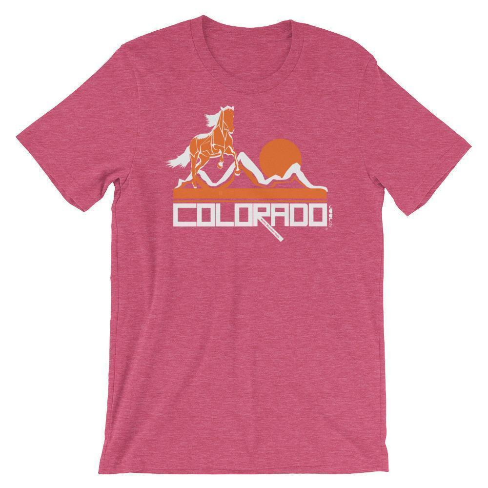 Colorado Hill Horse Short-Sleeve Men's T-Shirt T-Shirt Heather Raspberry / 2XL designed by JOOLcity