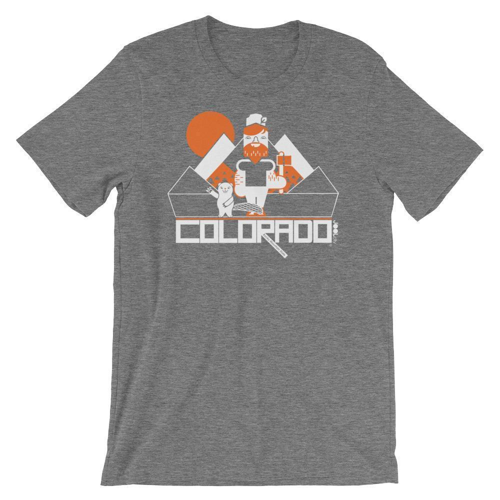 Colorado Lumber Jack Short-Sleeve Men's T-Shirt T-Shirt Deep Heather / 2XL designed by JOOLcity