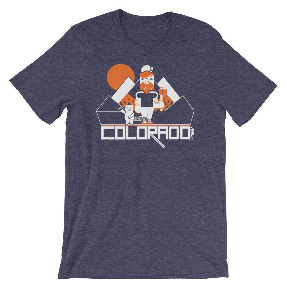 Colorado Lumber Jack Short-Sleeve Men's T-Shirt T-Shirt Heather Midnight Navy / 2XL designed by JOOLcity