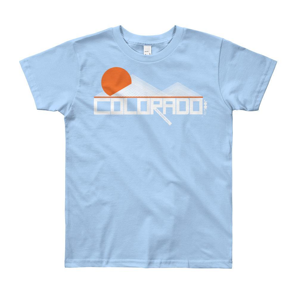 Colorado Mod-Mountain Short Sleeve Youth youth t-shirt T-Shirt Baby Blue / 12yrs designed by JOOLcity