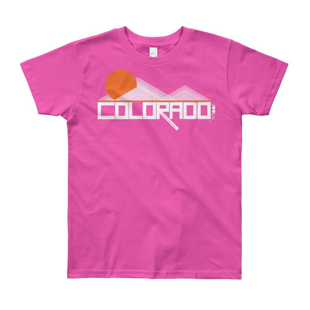 Colorado Mod-Mountain Short Sleeve Youth youth t-shirt T-Shirt Fuchsia / 12yrs designed by JOOLcity