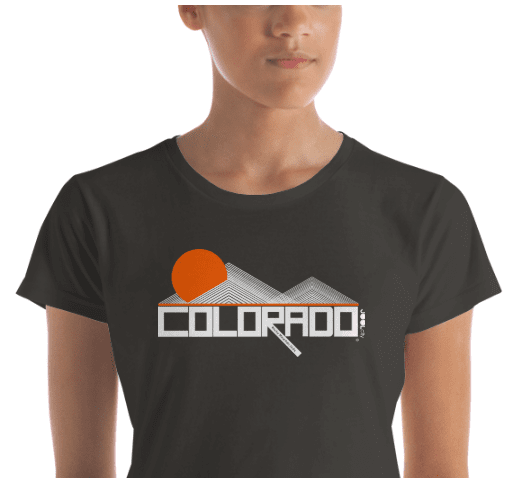 Colorado Mod-Mountain Women's  Short Sleeve T-Shirt T-Shirt  designed by JOOLcity