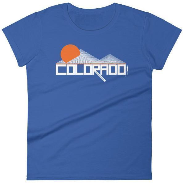 Colorado Mod-Mountain Women's  Short Sleeve T-Shirt T-Shirt Royal Blue / 2XL designed by JOOLcity
