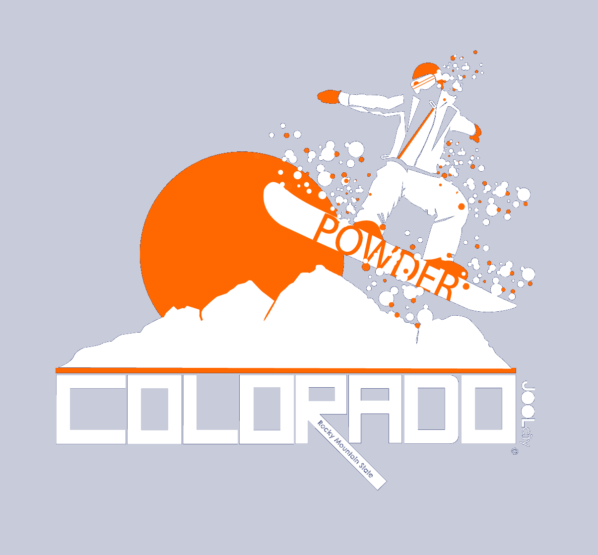 Colorado Powder Boy Short-Sleeve Men's T-Shirt T-Shirt  designed by JOOLcity