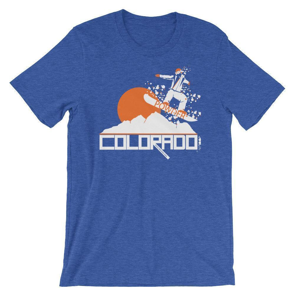 Colorado Powder Boy Short-Sleeve Men's T-Shirt T-Shirt Heather True Royal / 2XL designed by JOOLcity