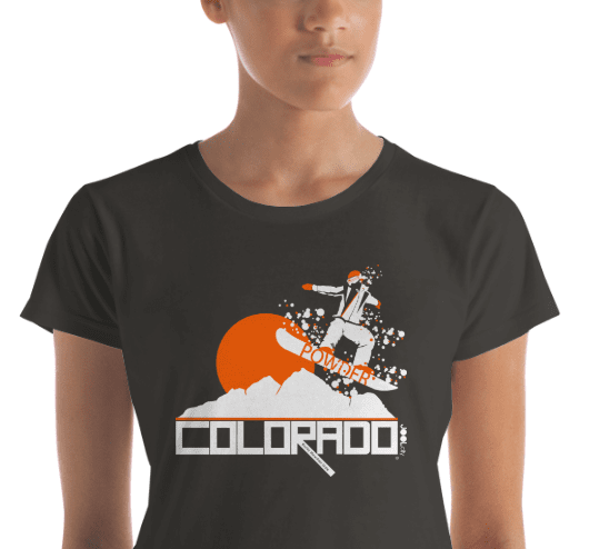 Colorado Powder Girl Women's  Short Sleeve T-Shirt T-Shirt  designed by JOOLcity