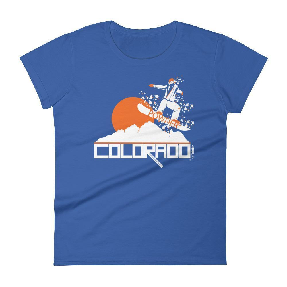 Colorado Powder Girl Women's  Short Sleeve T-Shirt T-Shirt Royal Blue / 2XL designed by JOOLcity