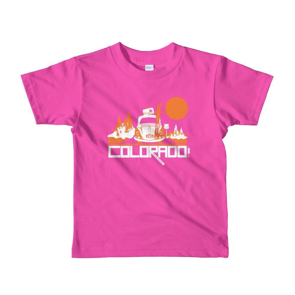 Colorado Ski Bug Toddler Short-Sleeve T-shirt T-Shirt Fuchsia / 6yrs designed by JOOLcity
