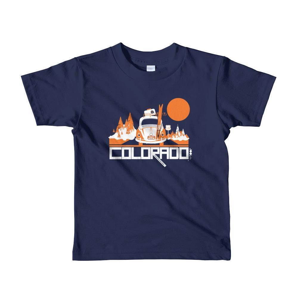 Colorado Ski Bug Toddler Short-Sleeve T-shirt T-Shirt Navy / 6yrs designed by JOOLcity