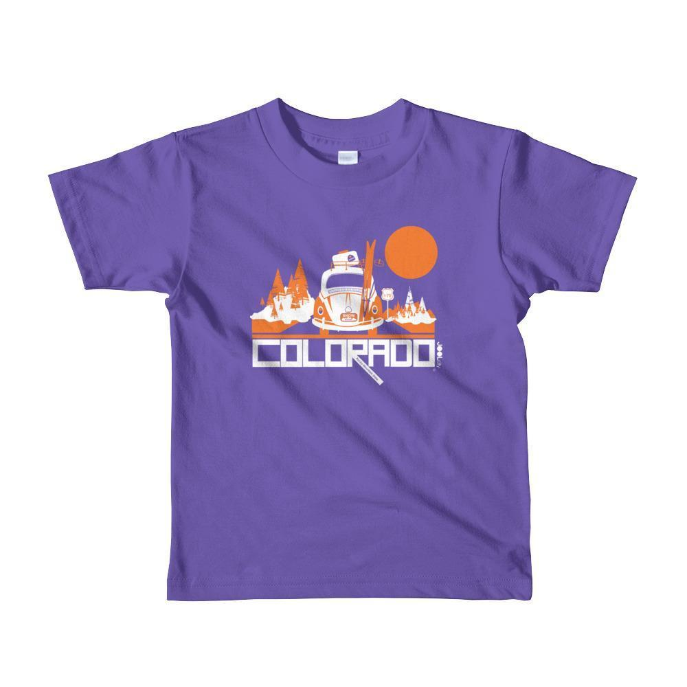 Colorado Ski Bug Toddler Short-Sleeve T-shirt T-Shirt Purple / 6yrs designed by JOOLcity