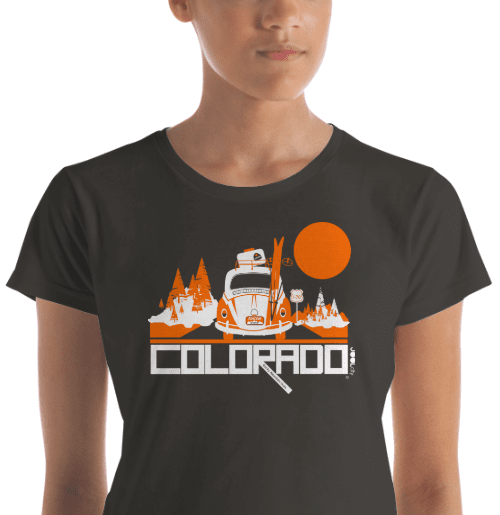 Colorado Ski Bug Women's Short Sleeve T-Shirt T-Shirt  designed by JOOLcity