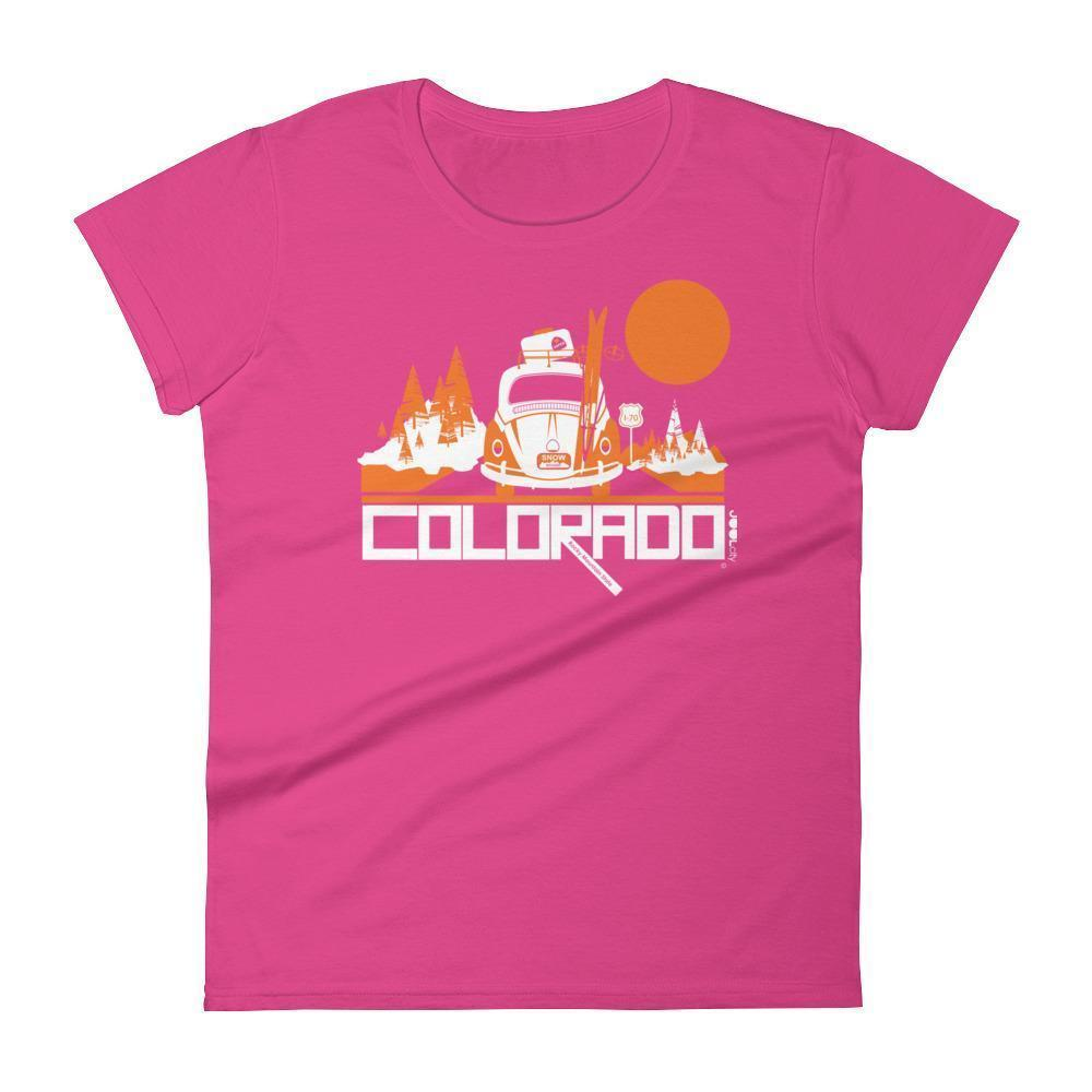 Colorado Ski Bug Women's Short Sleeve T-Shirt T-Shirt Hot Pink / 2XL designed by JOOLcity