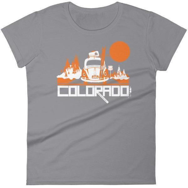 Colorado Ski Bug Women's Short Sleeve T-Shirt T-Shirt Storm Grey / 2XL designed by JOOLcity