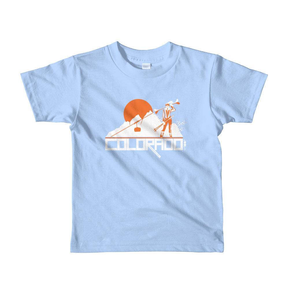 Colorado Ski Girl Short Sleeve Toddler T-Shirt T-Shirt Baby Blue / 6yrs designed by JOOLcity