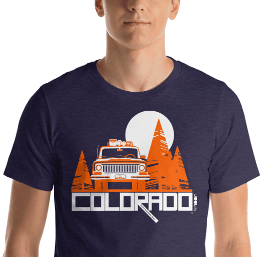 Colorado Wagon Wheel Short-Sleeve Men's T-Shirt T-Shirt  designed by JOOLcity