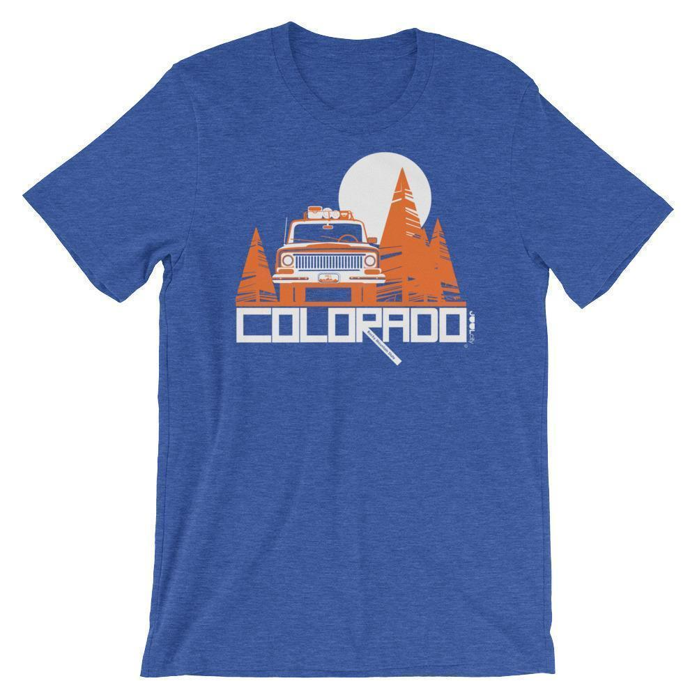 Colorado Wagon Wheel Short-Sleeve Men's T-Shirt T-Shirt Heather True Royal / 2XL designed by JOOLcity