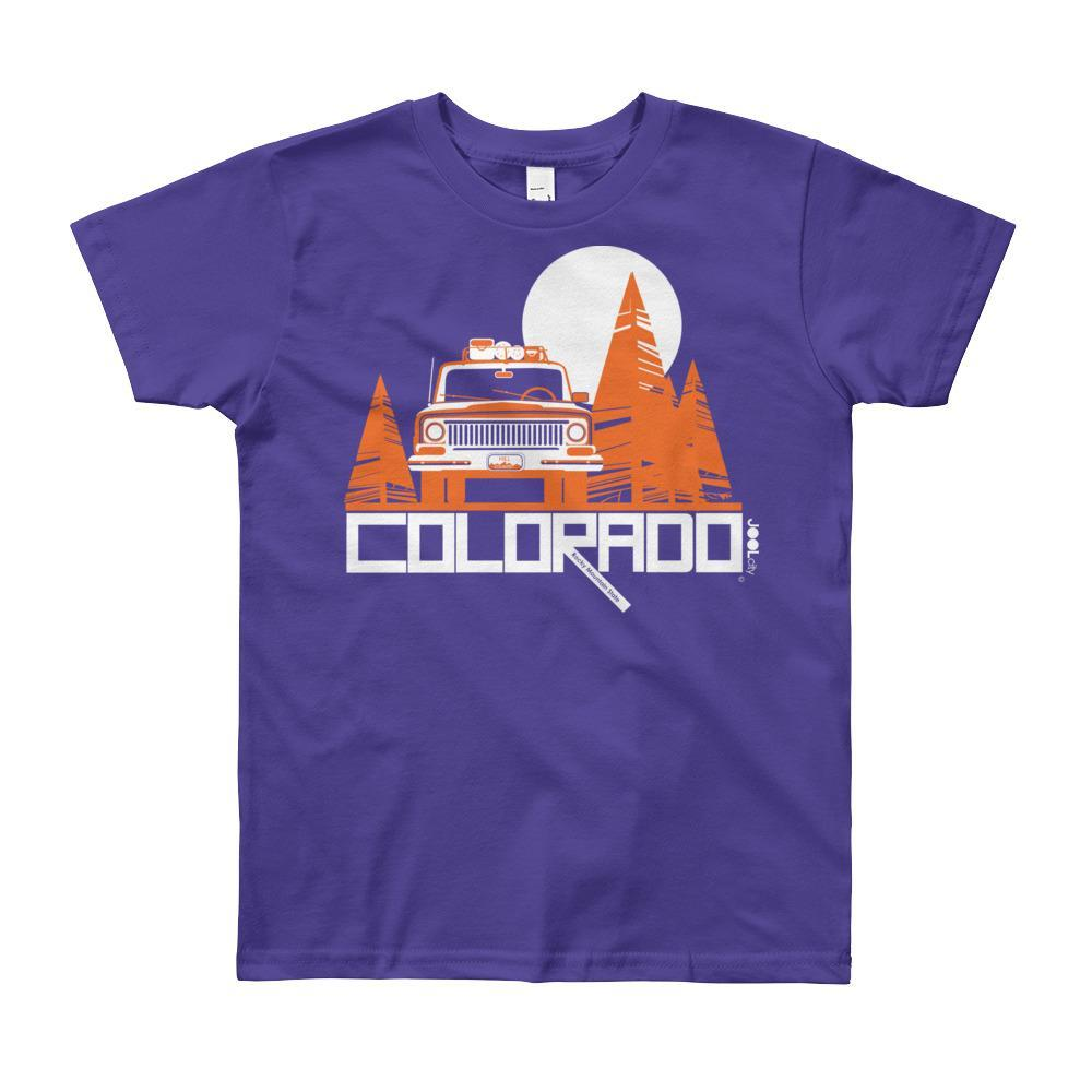 Colorado Wagon Wheel Short Sleeve Youth youth t-shirt T-Shirt Purple / 12yrs designed by JOOLcity