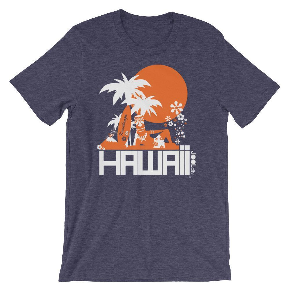 Hawaii  Apres Surf  Short-Sleeve Men's T-Shirt T-Shirt Heather Midnight Navy / 2XL designed by JOOLcity