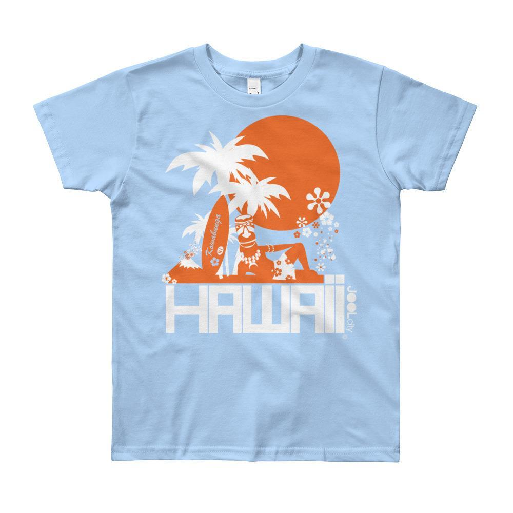 Hawaii Apres Surf Short Sleeve Youth T-shirt T-Shirt Baby Blue / 12yrs designed by JOOLcity