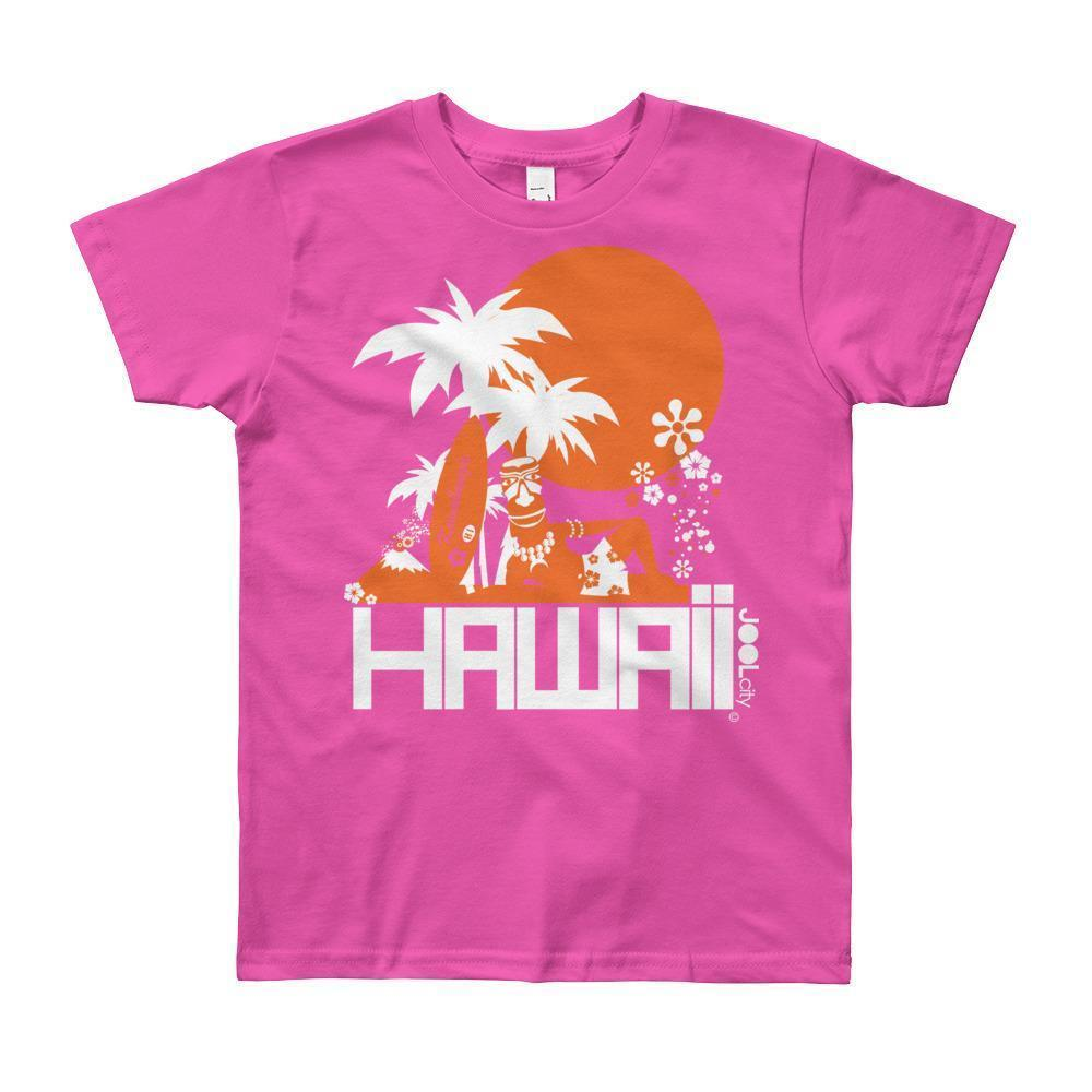 Hawaii Apres Surf Short Sleeve Youth T-shirt T-Shirt Fuchsia / 12yrs designed by JOOLcity