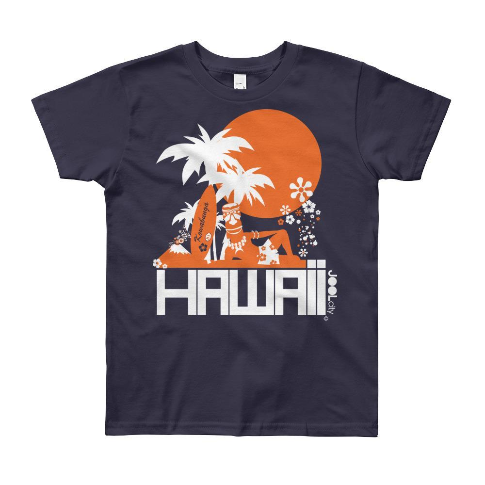 Hawaii Apres Surf Short Sleeve Youth T-shirt T-Shirt Navy / 12yrs designed by JOOLcity