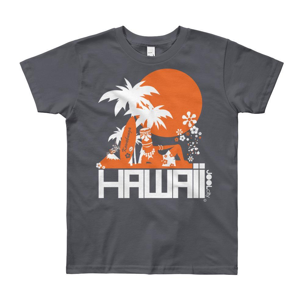 Hawaii Apres Surf Short Sleeve Youth T-shirt T-Shirt Slate / 12yrs designed by JOOLcity