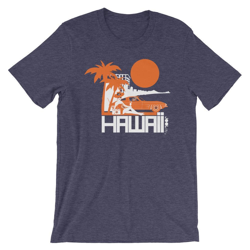 Hawaii  Beach Bombshell  Short-Sleeve Unisex T-Shirt T-Shirt Heather Midnight Navy / 2XL designed by JOOLcity