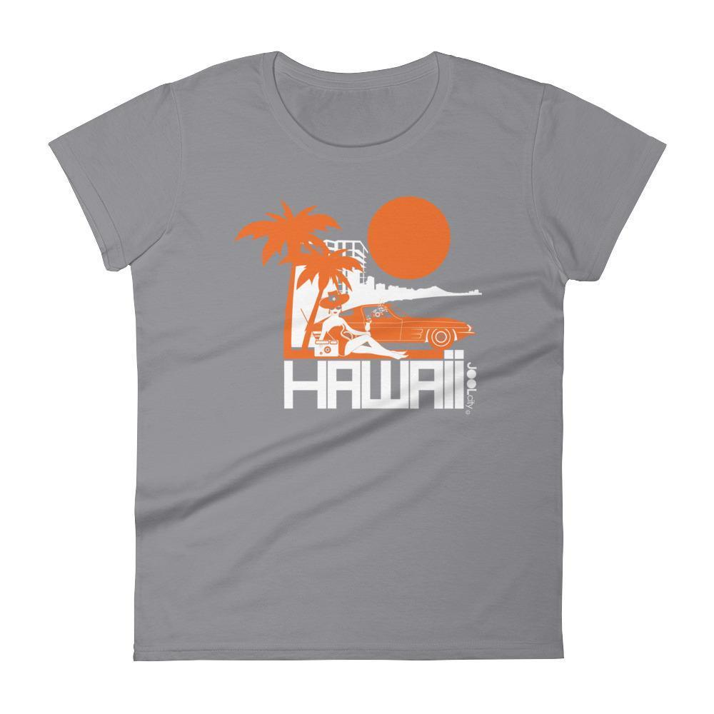 Hawaii  Beach Bombshell  Women's   Short Sleeve T-Shirt T-Shirt Storm Grey / 2XL designed by JOOLcity