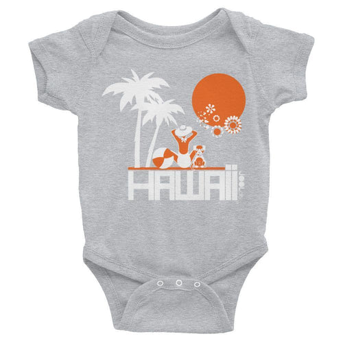 Hawaii  Beach Love Baby Onesie