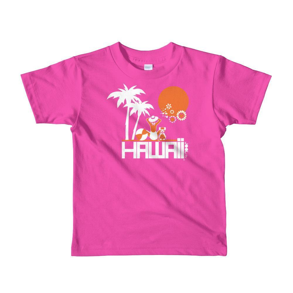 Hawaii  Beach Love  Short Sleeve Toddler T-shirt T-Shirt Fuchsia / 6yrs designed by JOOLcity