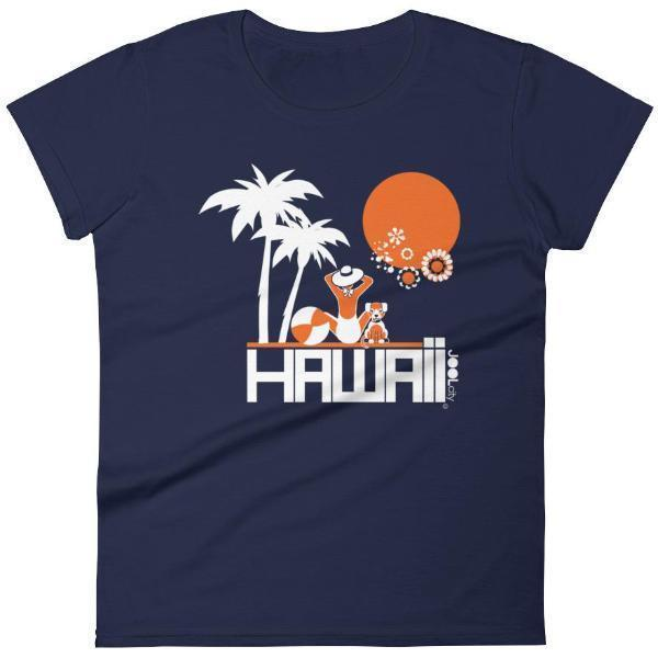 Hawaii  Beach Love  Women's   Short Sleeve T-Shirt T-Shirt Navy / 2XL designed by JOOLcity
