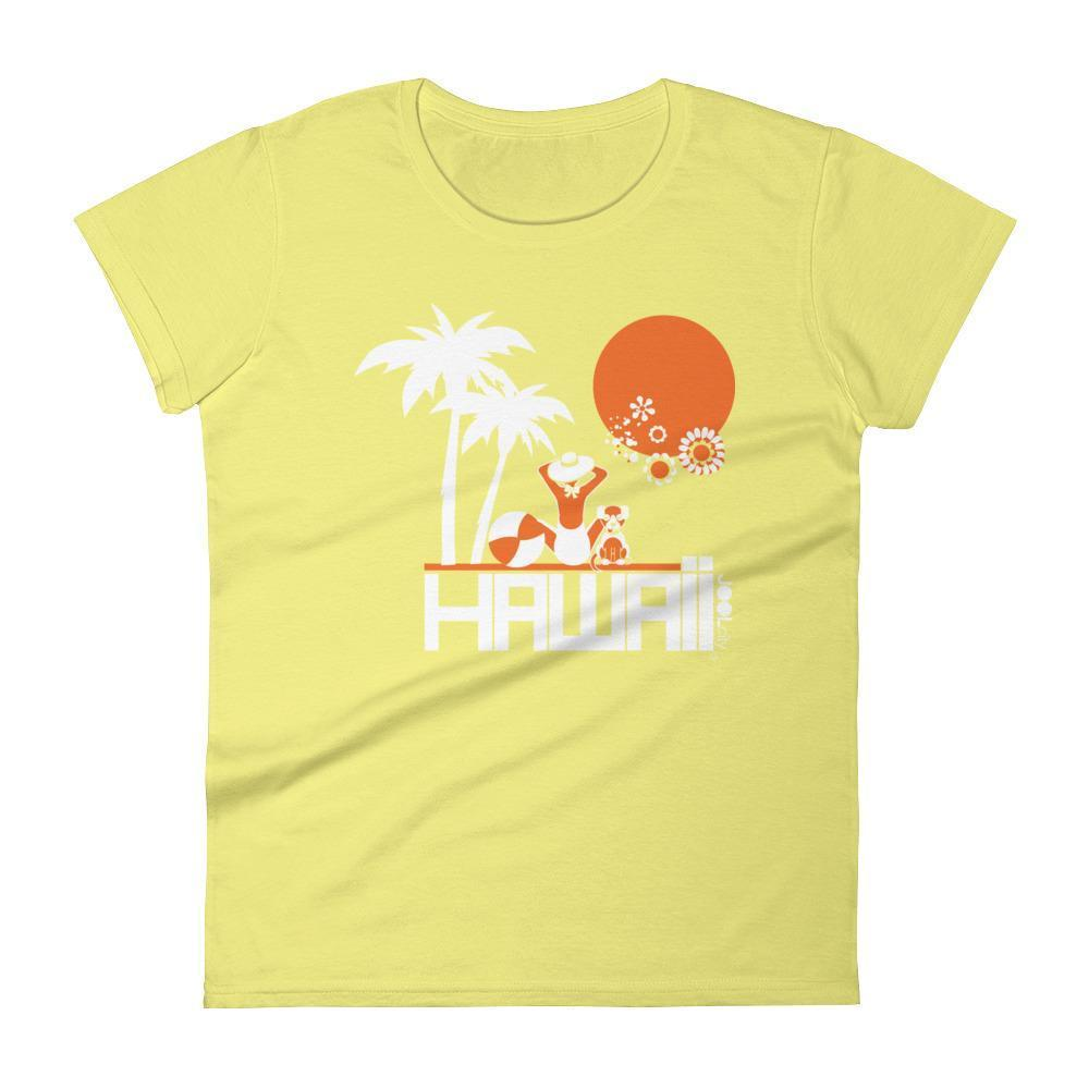 Hawaii  Beach Love  Women's   Short Sleeve T-Shirt T-Shirt Spring Yellow / 2XL designed by JOOLcity