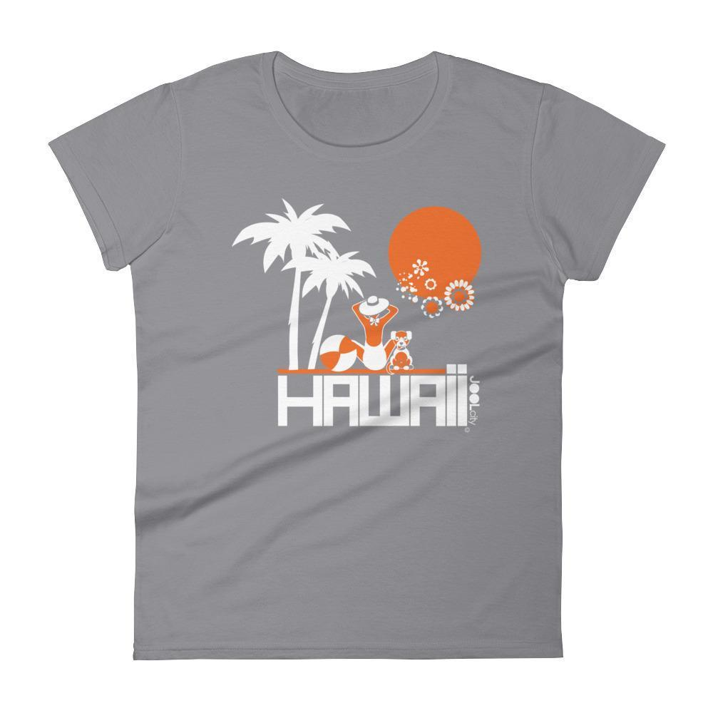 Hawaii  Beach Love  Women's   Short Sleeve T-Shirt T-Shirt Storm Grey / 2XL designed by JOOLcity
