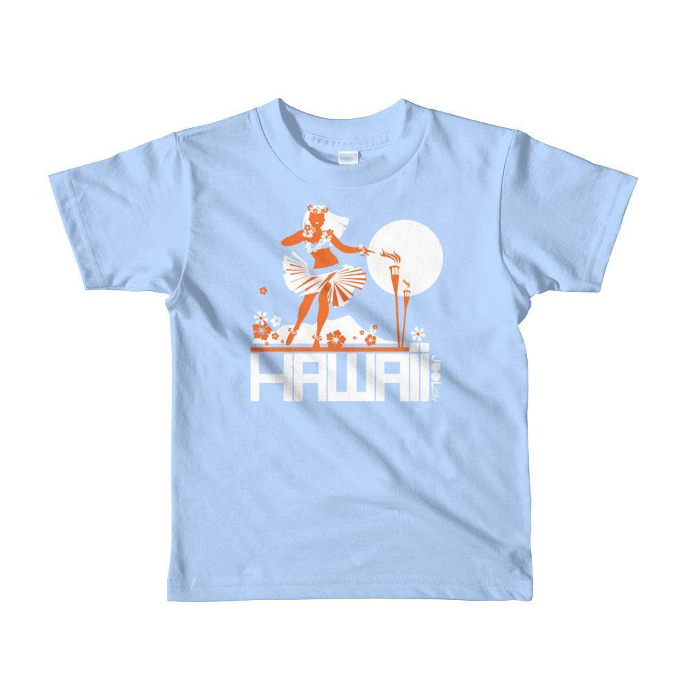 Hawaii  Hula Happy  Short Sleeve Toddler T-shirt T-Shirt Baby Blue / 6yrs designed by JOOLcity
