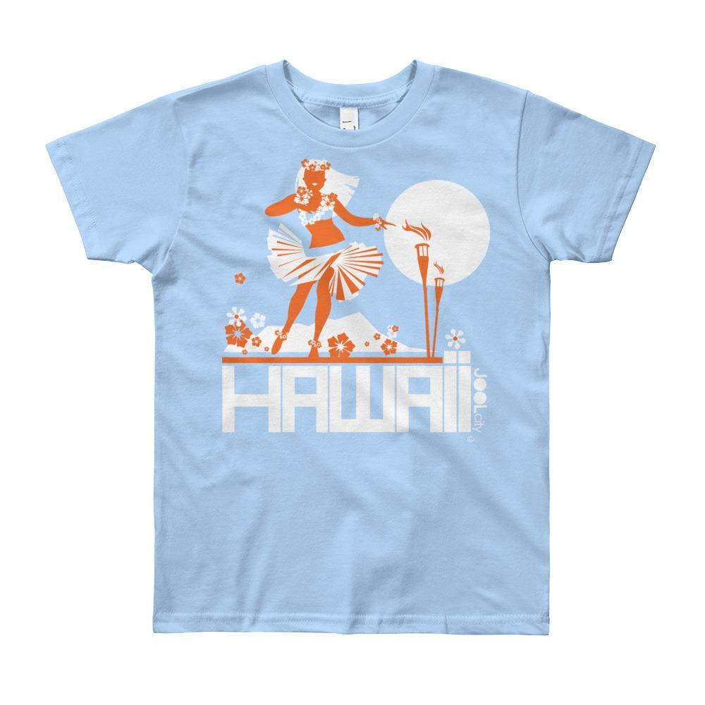 Hawaii Hula Happy Short Sleeve Youth T-shirt T-Shirt Baby Blue / 12yrs designed by JOOLcity