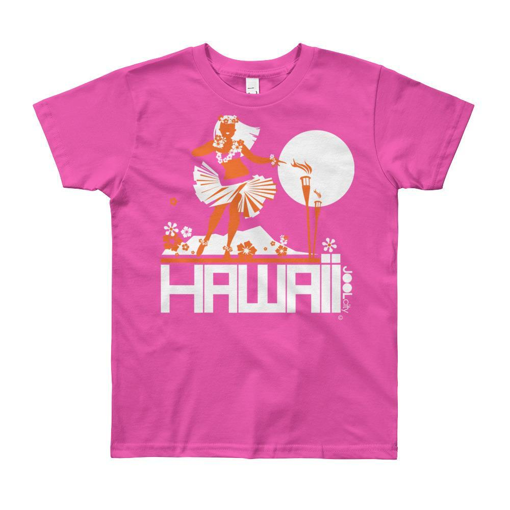 Hawaii Hula Happy Short Sleeve Youth T-shirt T-Shirt Fuchsia / 12yrs designed by JOOLcity
