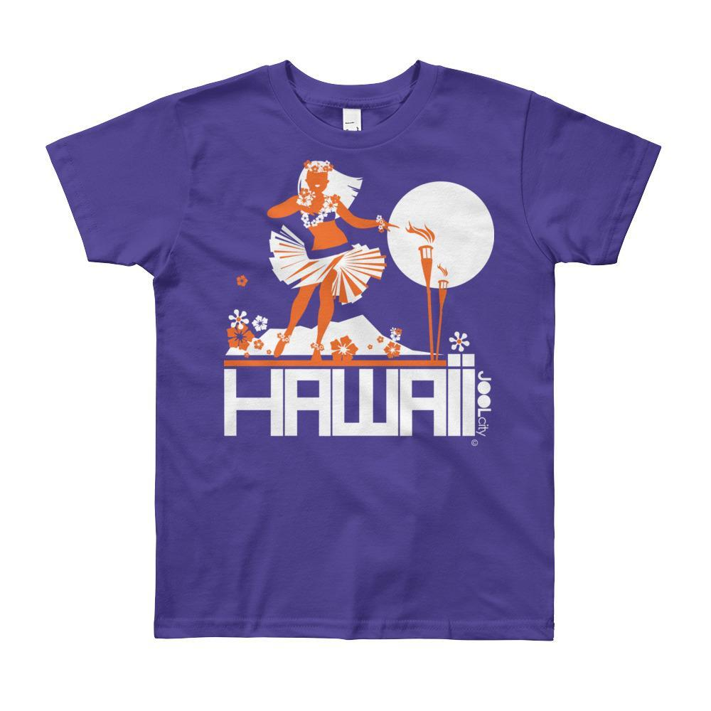 Hawaii Hula Happy Short Sleeve Youth T-shirt T-Shirt Purple / 12yrs designed by JOOLcity
