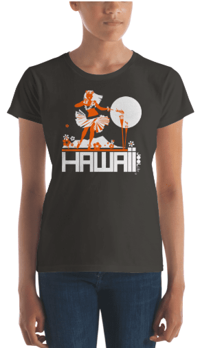 Hawaii  Hula Happy  Women's   Short Sleeve T-Shirt T-Shirt  designed by JOOLcity
