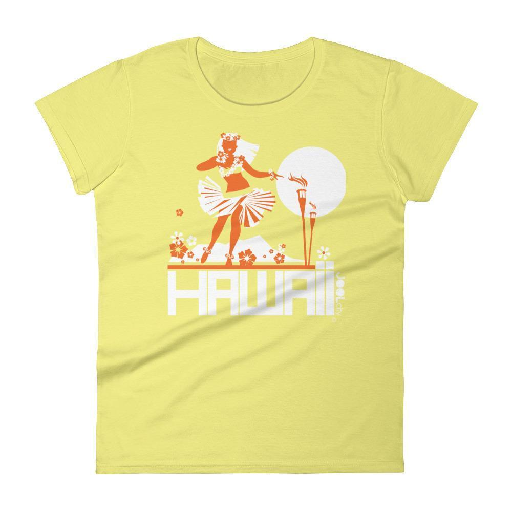 Hawaii  Hula Happy  Women's   Short Sleeve T-Shirt T-Shirt Spring Yellow / 2XL designed by JOOLcity