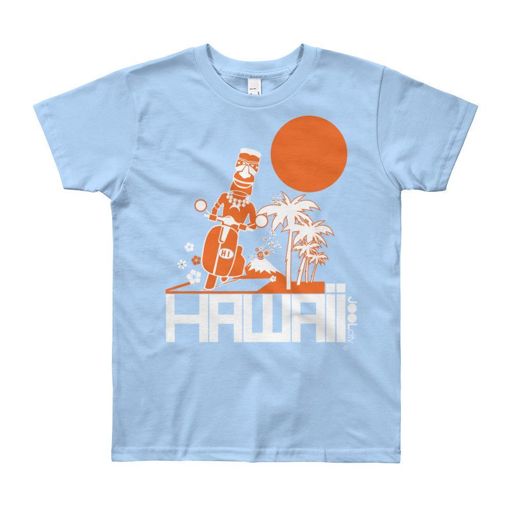 Hawaii Longboard Love Short Sleeve Youth T-shirt T-Shirt Baby Blue / 12yrs designed by JOOLcity
