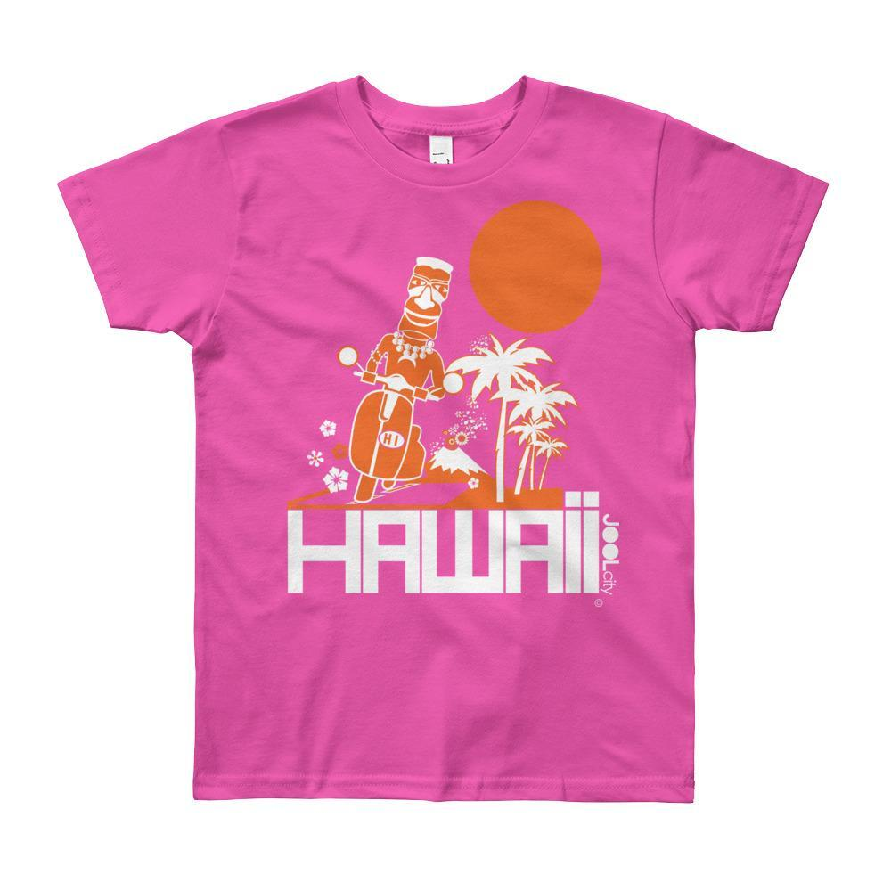 Hawaii Longboard Love Short Sleeve Youth T-shirt T-Shirt Fuchsia / 12yrs designed by JOOLcity